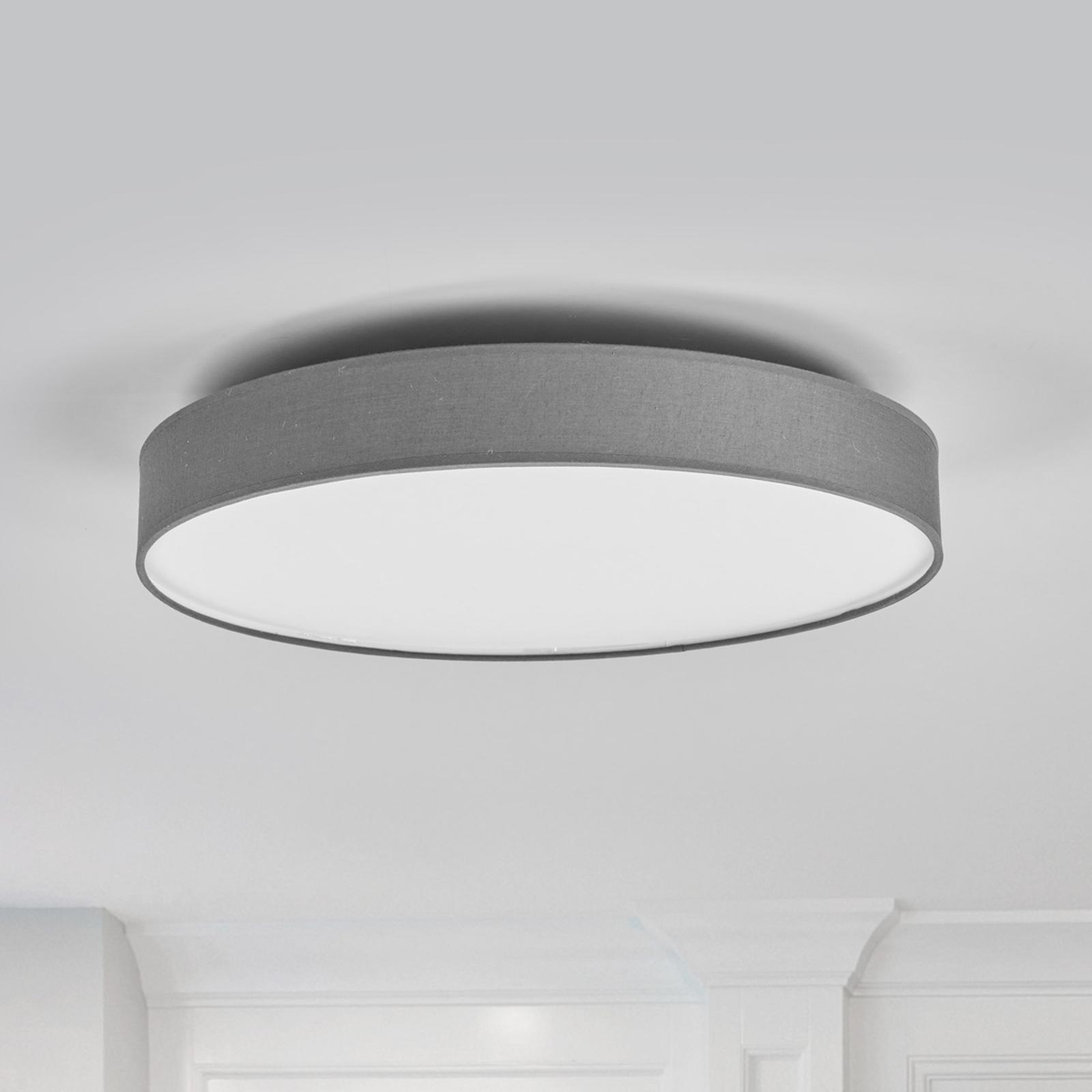 LED-kangaskattolamppu Saira, 50 cm, harmaa