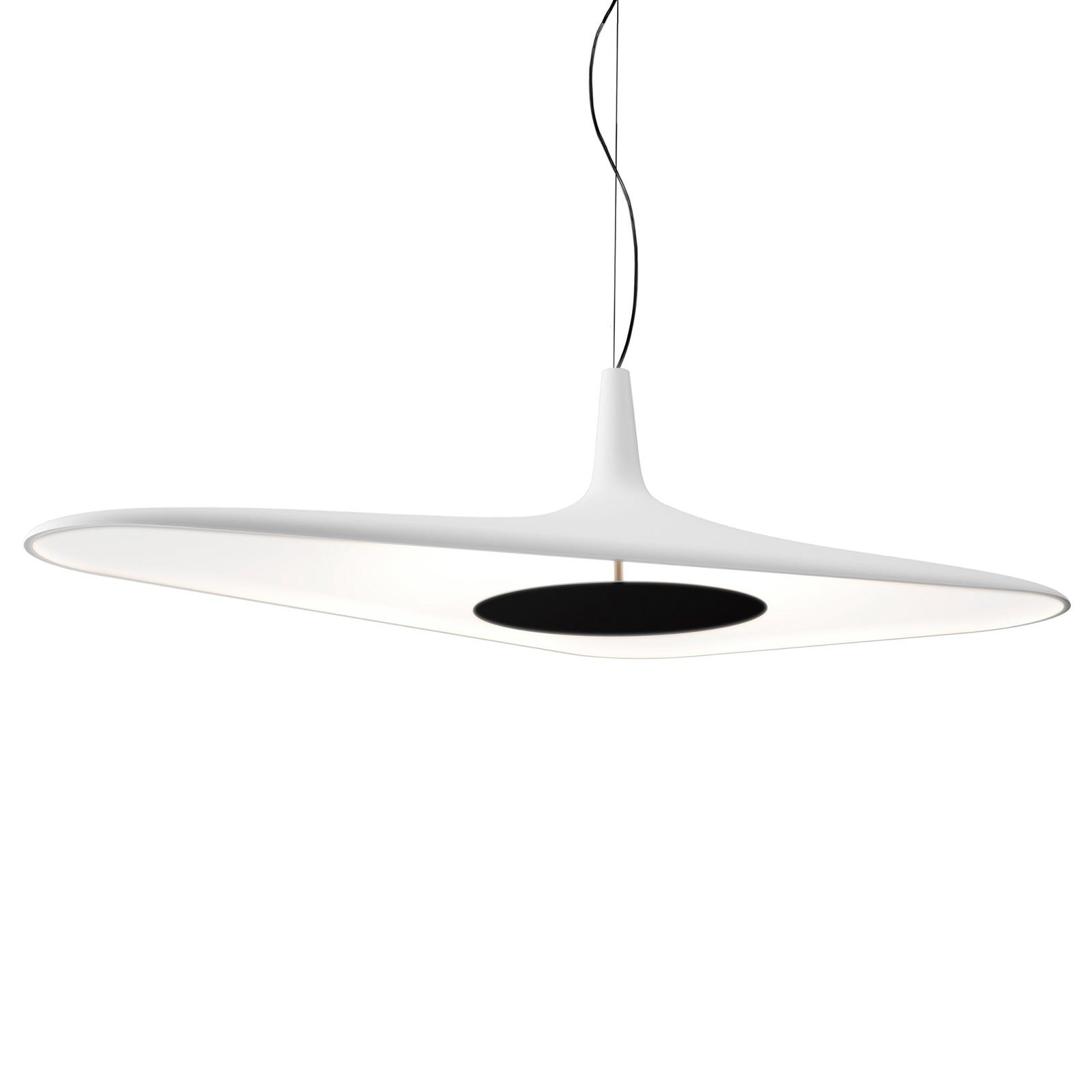 Luceplan Soleil Noir - LED-pendellampa, vit