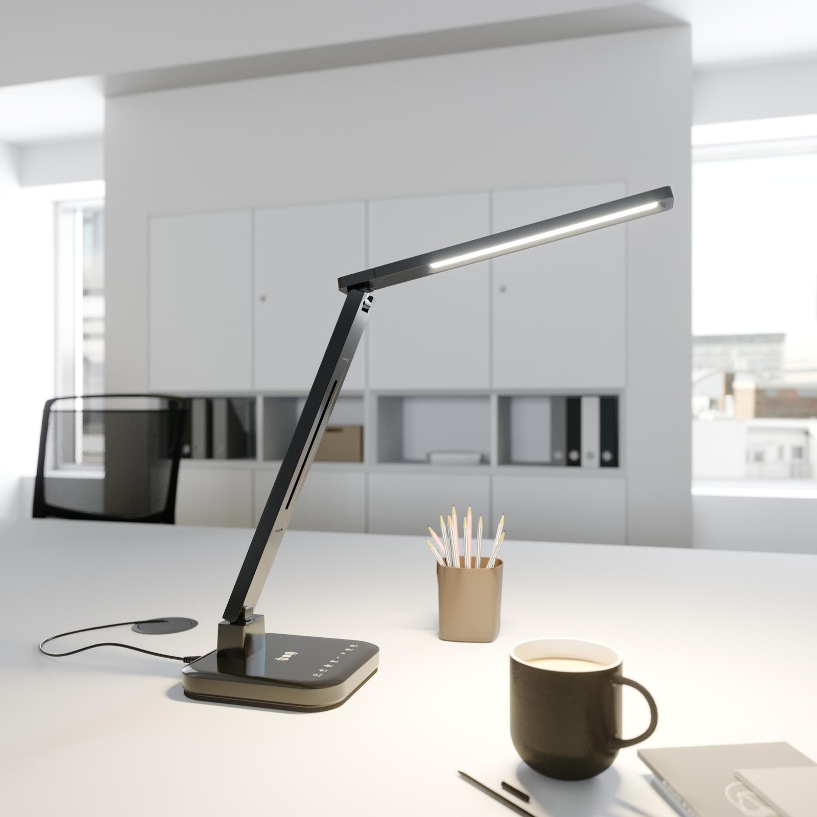 Arcchio Libia LED lámpara de mesa, carga, negro