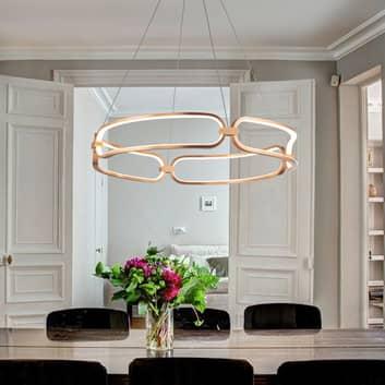 Lampa wisząca LED Colette, różowe złoto