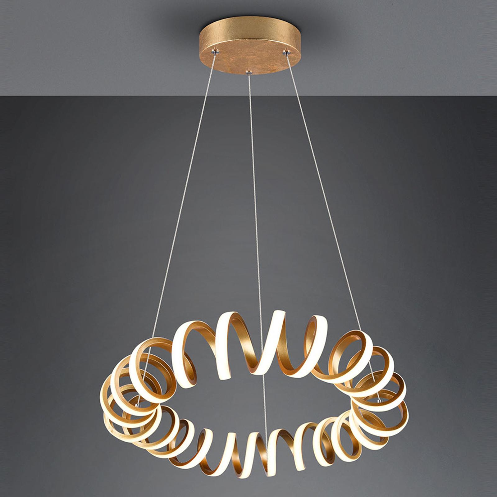 Lampa wisząca LED Curl, SwitchDim, złota