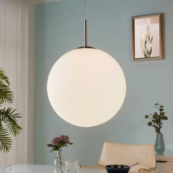 Lampada a sospensione Marike, sfera opale, 40 cm