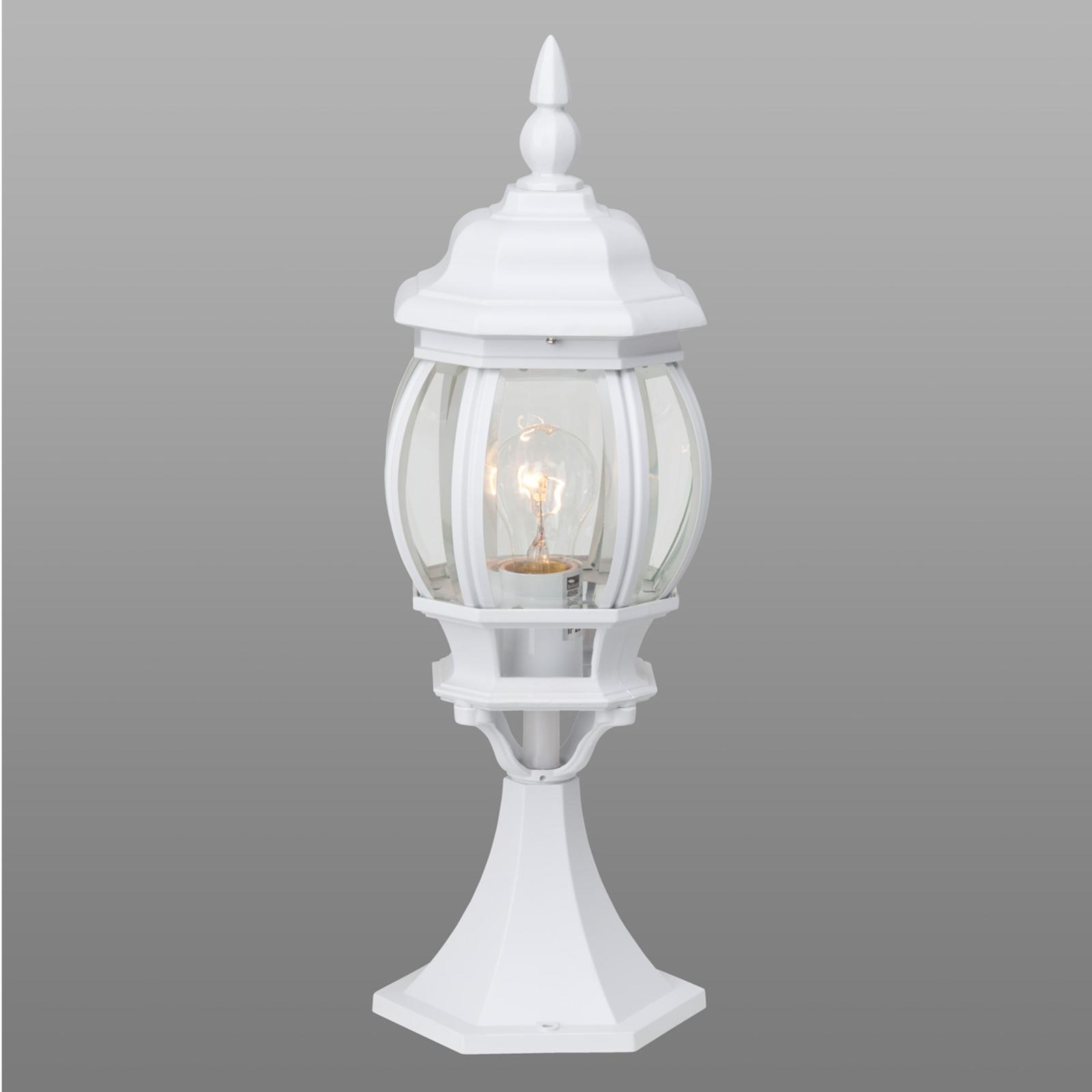 Biała lampa cokołowa ISTRIA
