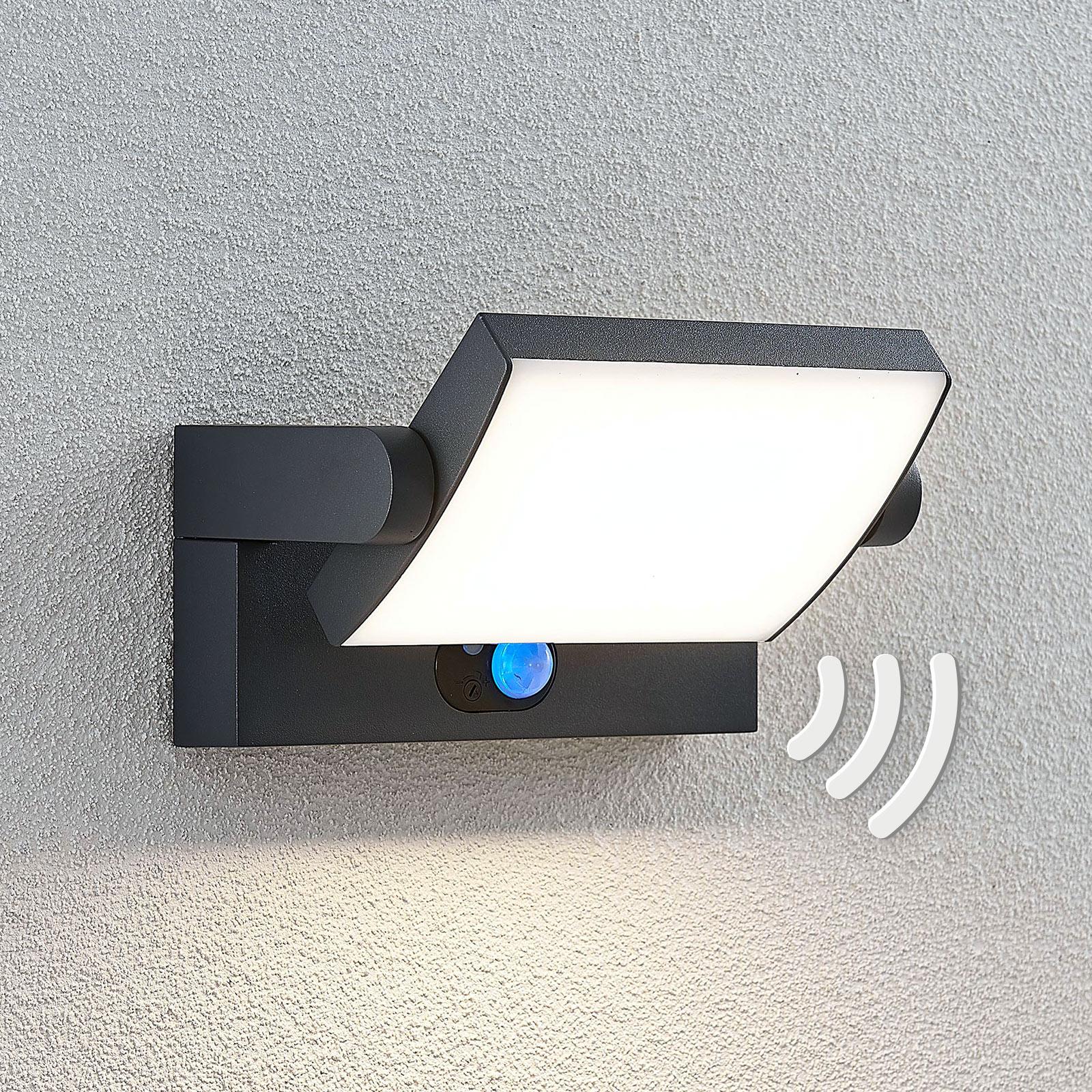 LED-Solar-Außenwandlampe Sherin mit Sensor