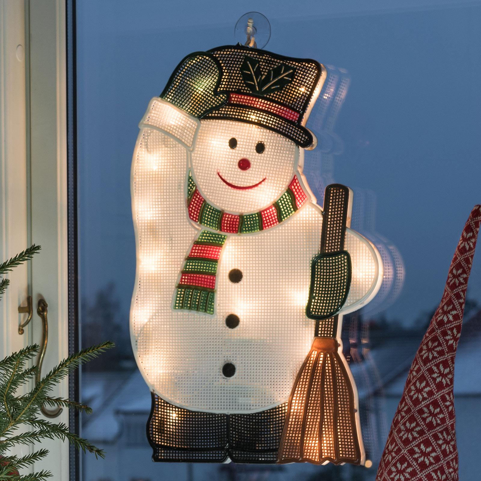 Intérieur - image fenêtre LED Bonhomme de neige