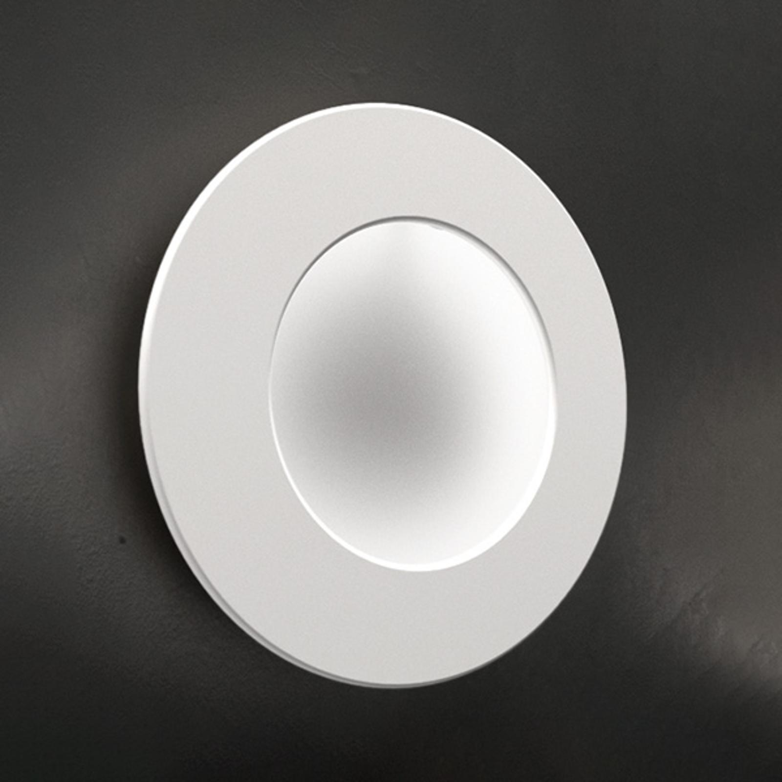 ICONE Vera 26 LED wandlamp, wit/wit