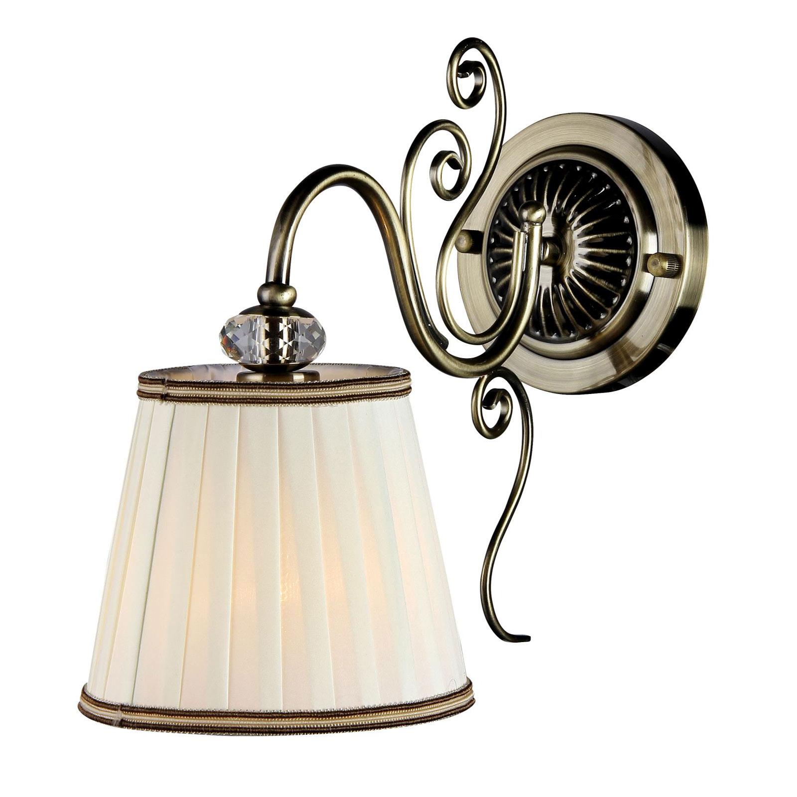 Wandlamp Vintage met stoffen kap