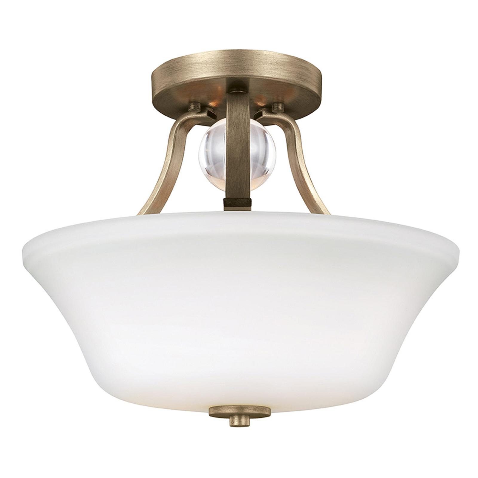 Lampa sufitowa Evington, złota