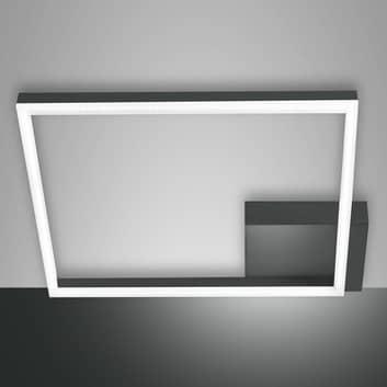 LED plafondlamp Bard, 42x42 cm, antraciet