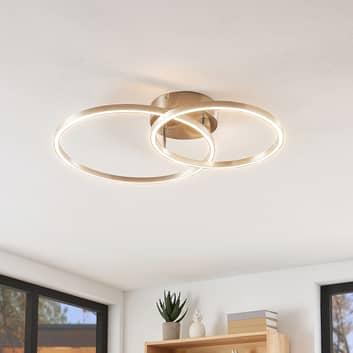 Lindby Sarafia lámpara LED de techo de dos anillos