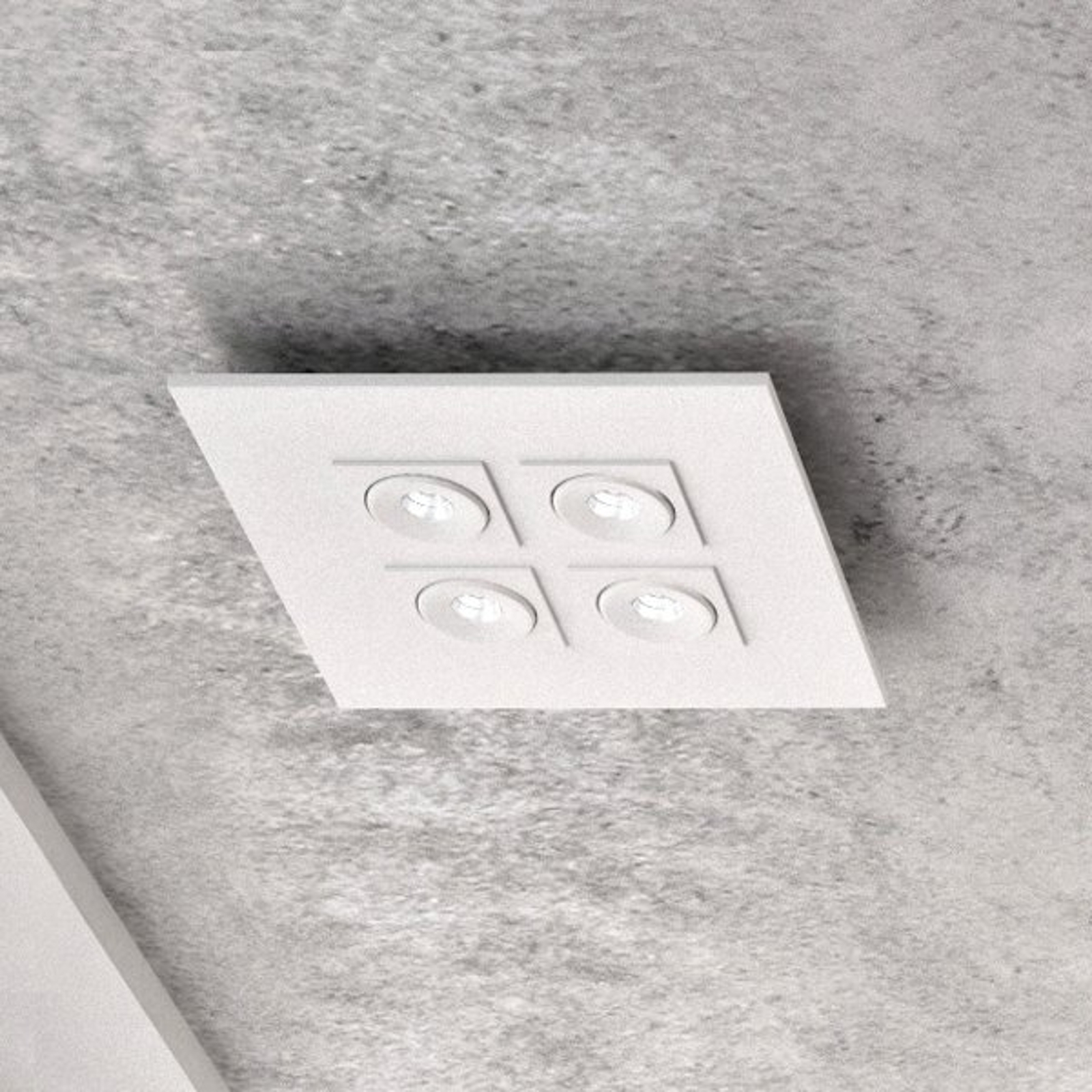 Milan Marc - LED-taklampe, 4 lyskilder, dreibar