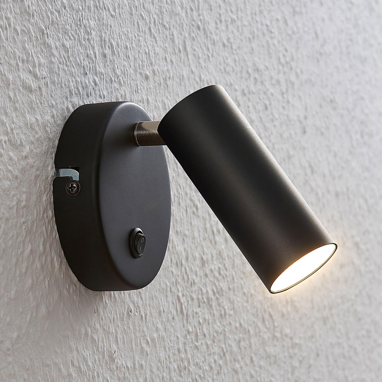 Spot LED Camille avec interrupteur, noir, 1lampe