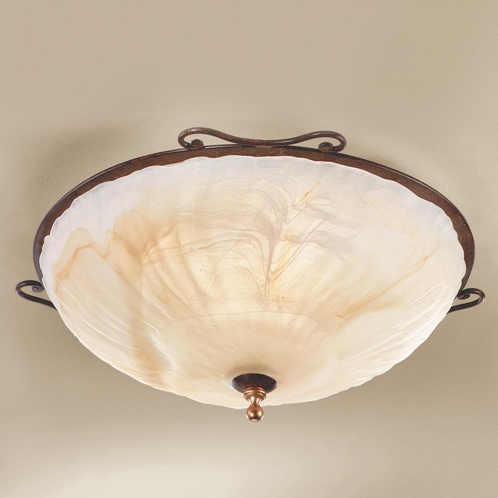 Wykonanie w antycznym stylu - lampa sufit. Armelle