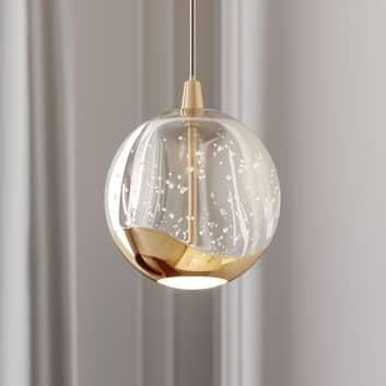 LED závěsné světlo Hayley, 1zdrojové, zlaté