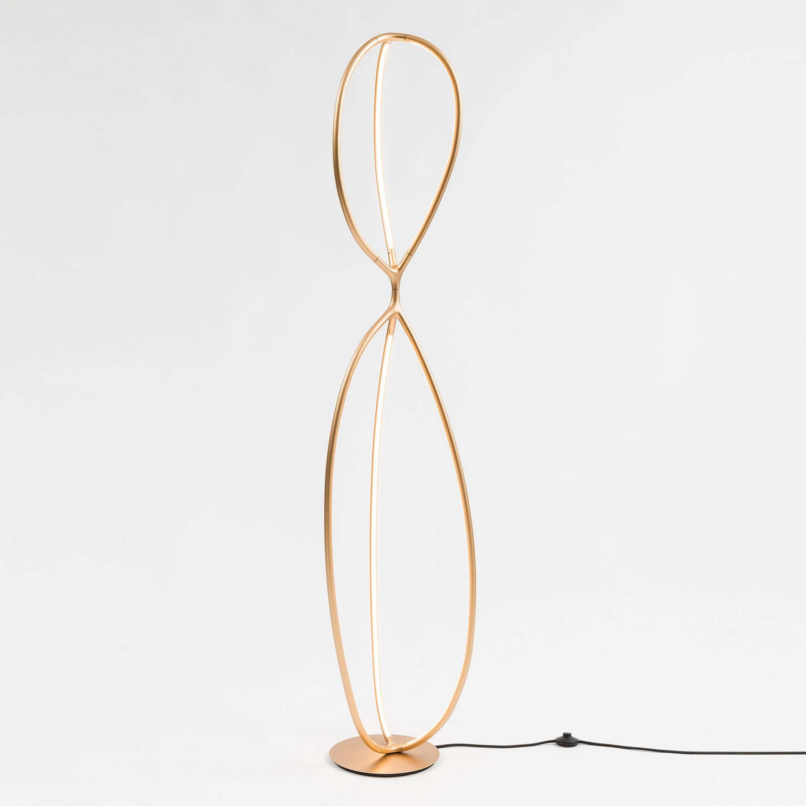 Artemide Arrival LED-Stehleuchte, messing