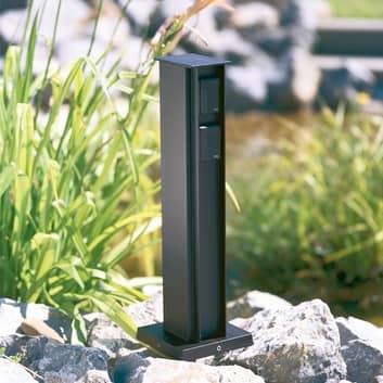 4-fach Steckdosensäule, schwarz