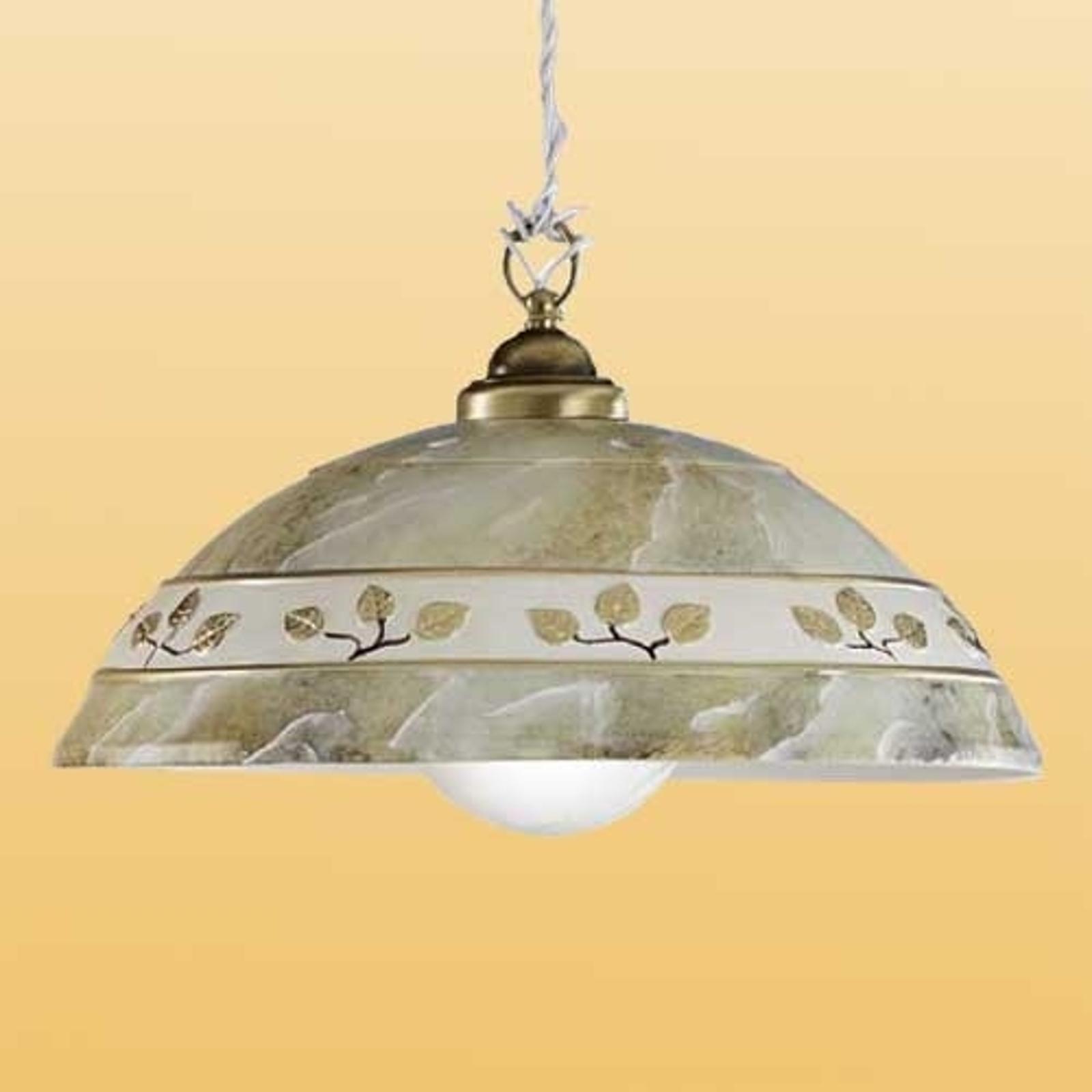 Závesná lampa FOGLIE MARMO MARRON_2013107_1
