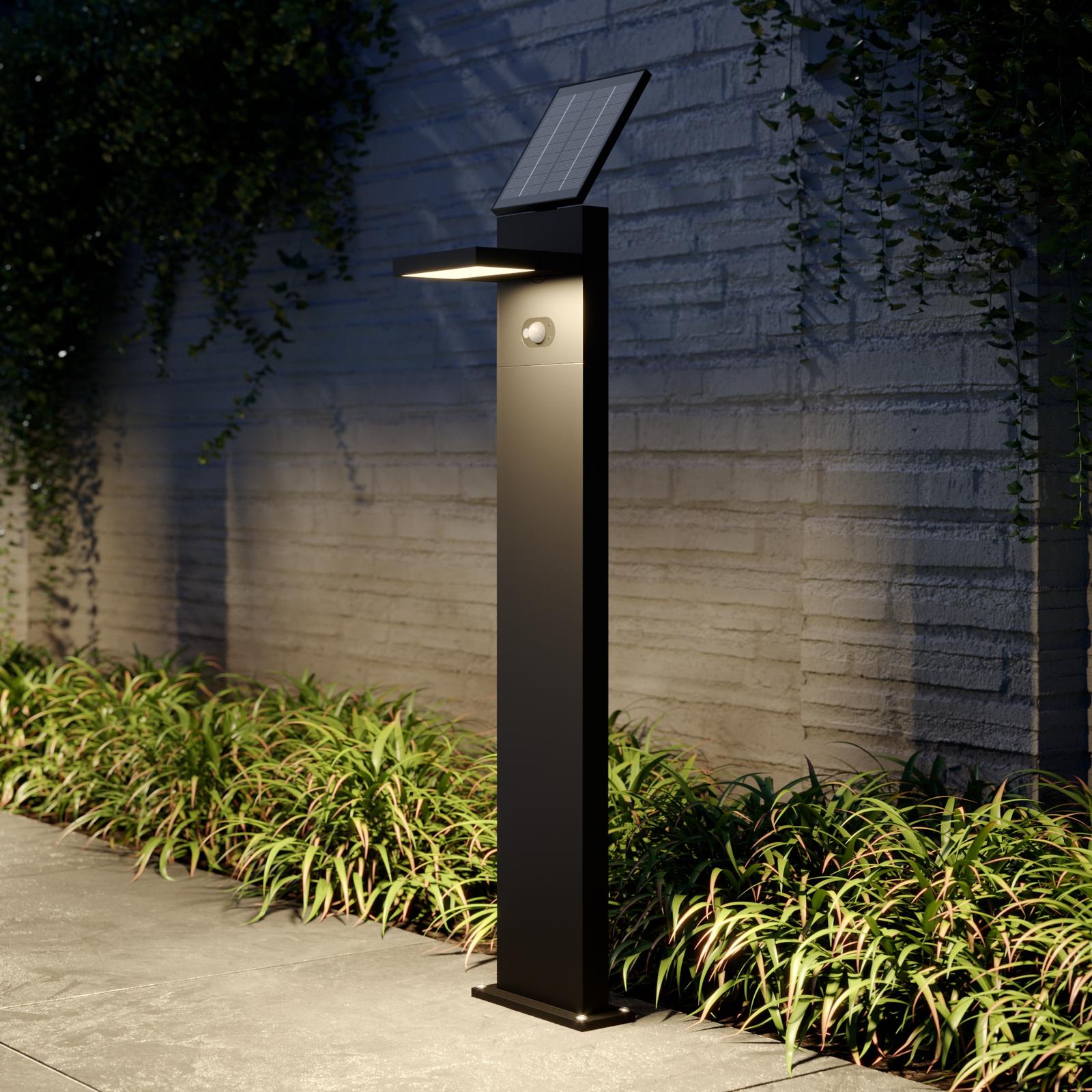 Solcelle-LED-veilampe Silvan med sensor, 100 cm