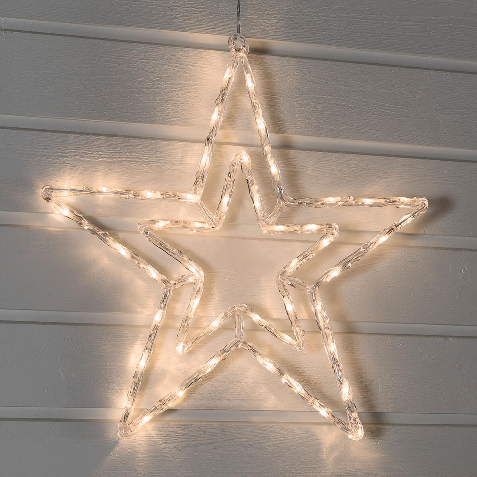 Étoile LED éclairage blanc chaud pour l'extérieur