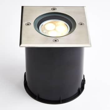 LED grondspot inbouwlamp zwenkbaar, IP67, hoekig