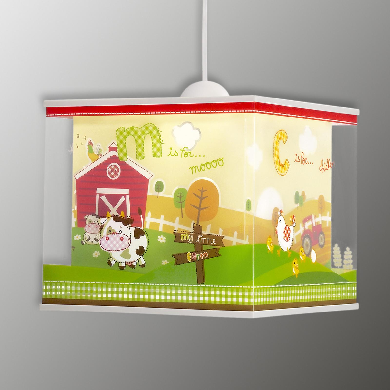 Lámpara colgante My Little Farm cuartos infantiles