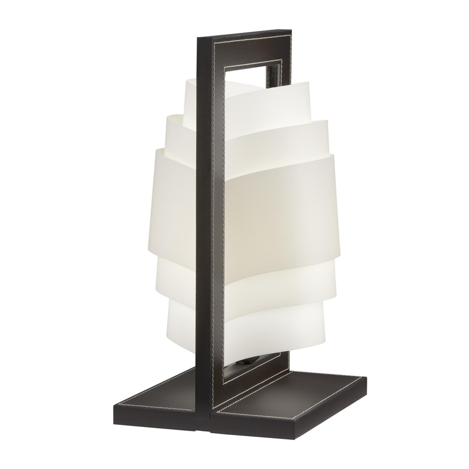 Mørkebrun bordlampe Vicente