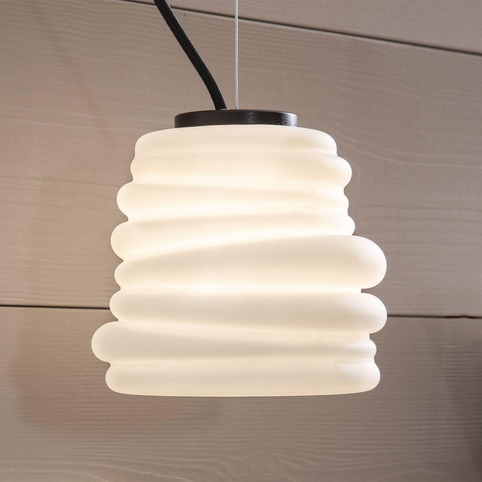 Karman Bibendum LED hanglamp, Ø 15 cm, wit