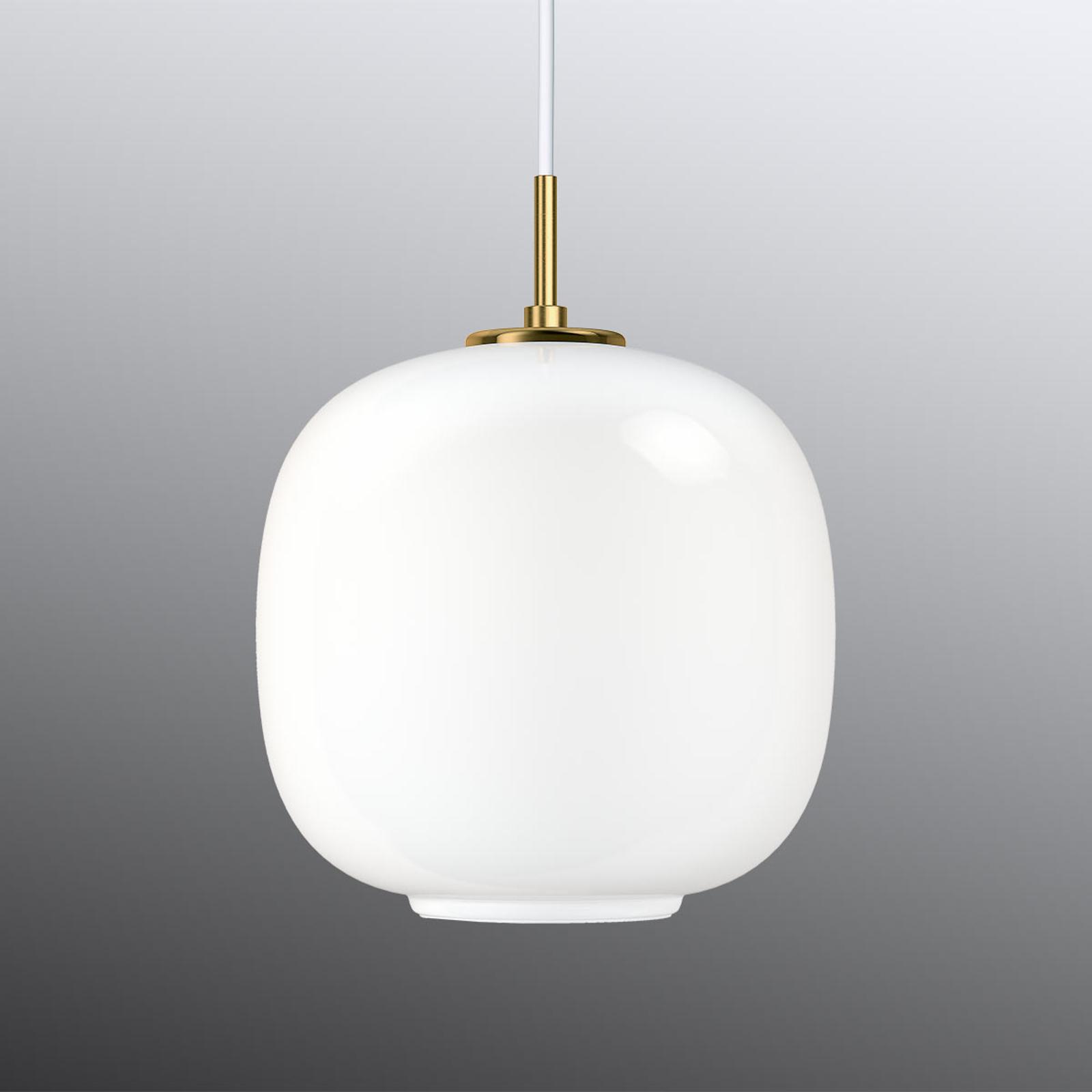 Witte glazen hanglamp VL45 Radiohus 25 cm