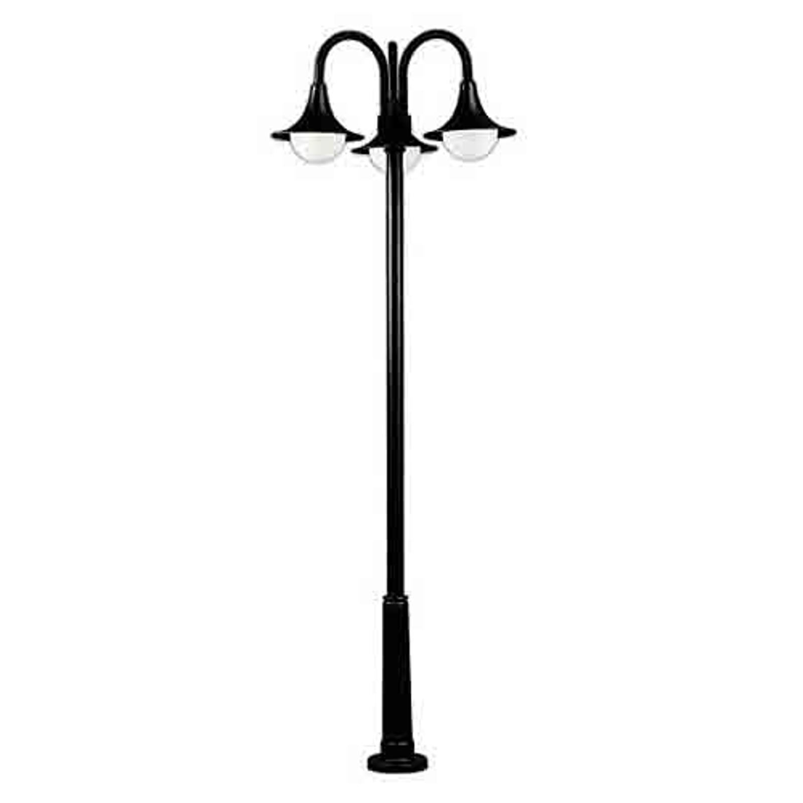 Lampadaire élégant 171 noir à 3 lampes