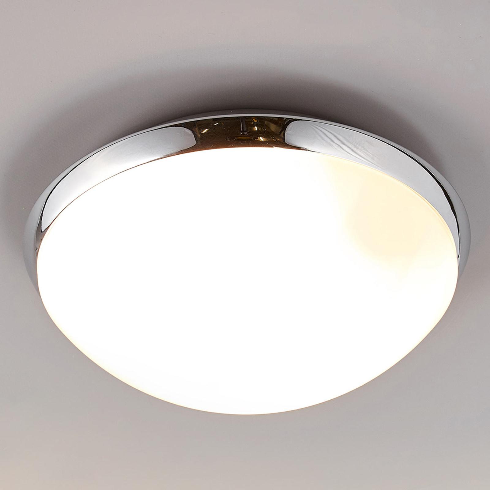 Badkamerplafondlamp Mijo met chroomrand, IP44
