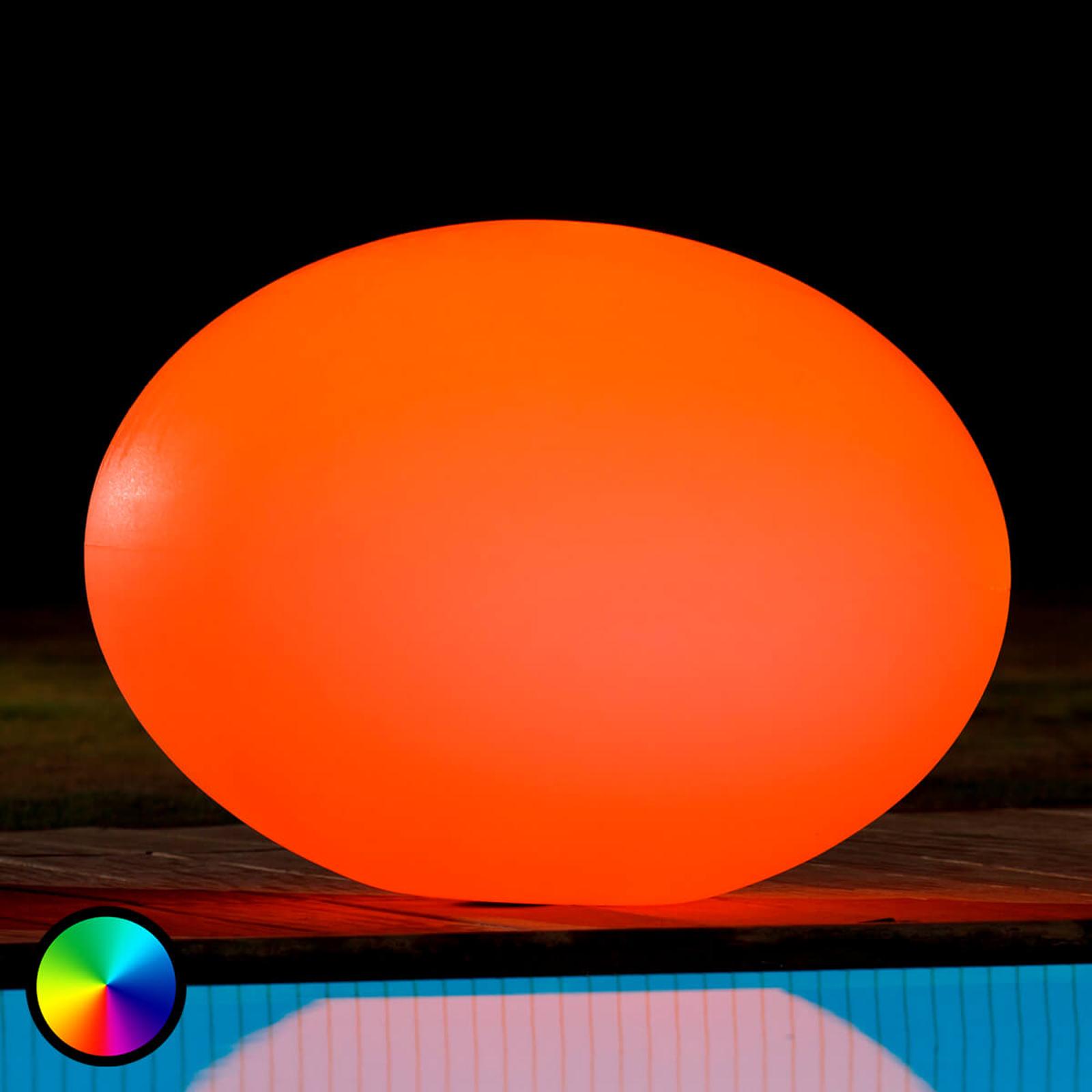 Schwimmfähige LED-Dekoleuchte Flatball L