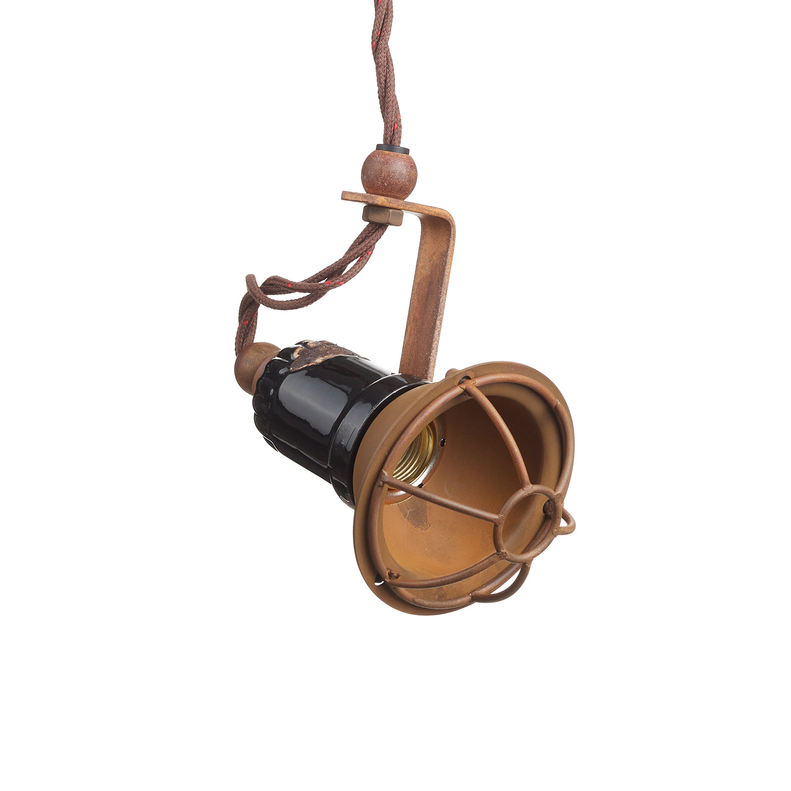 Lampa wisząca C1660/1 z klatką, czarna