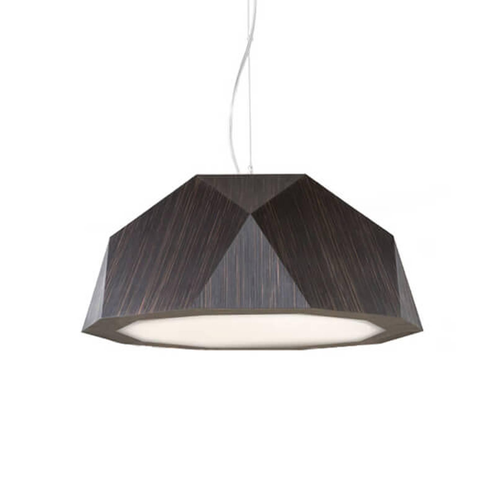 LED hanglamp Crio in donkere houtlook