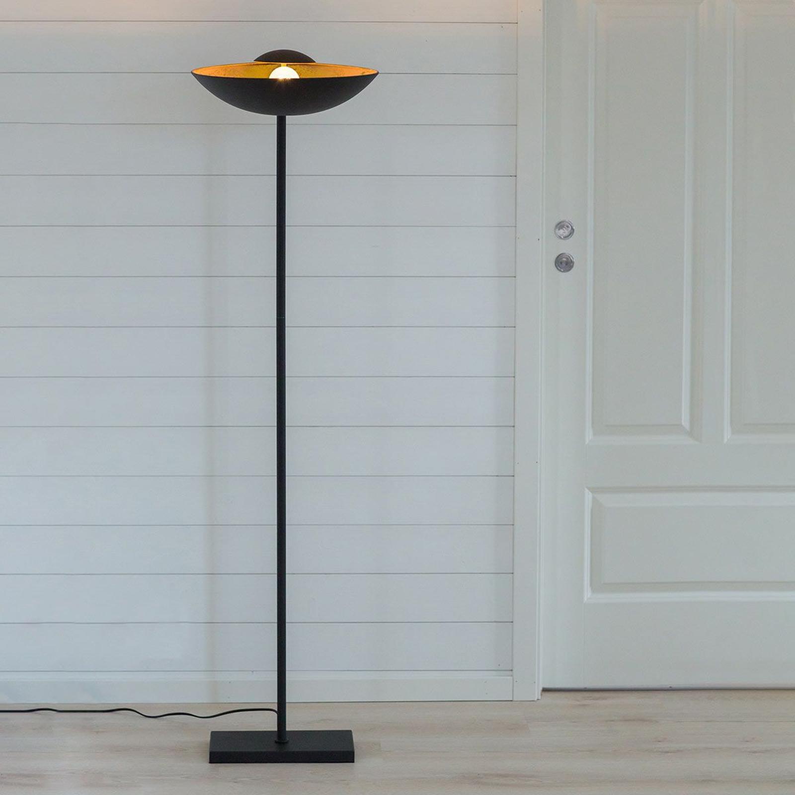 By Rydéns Captain Uplight standerlampe, sort-guld