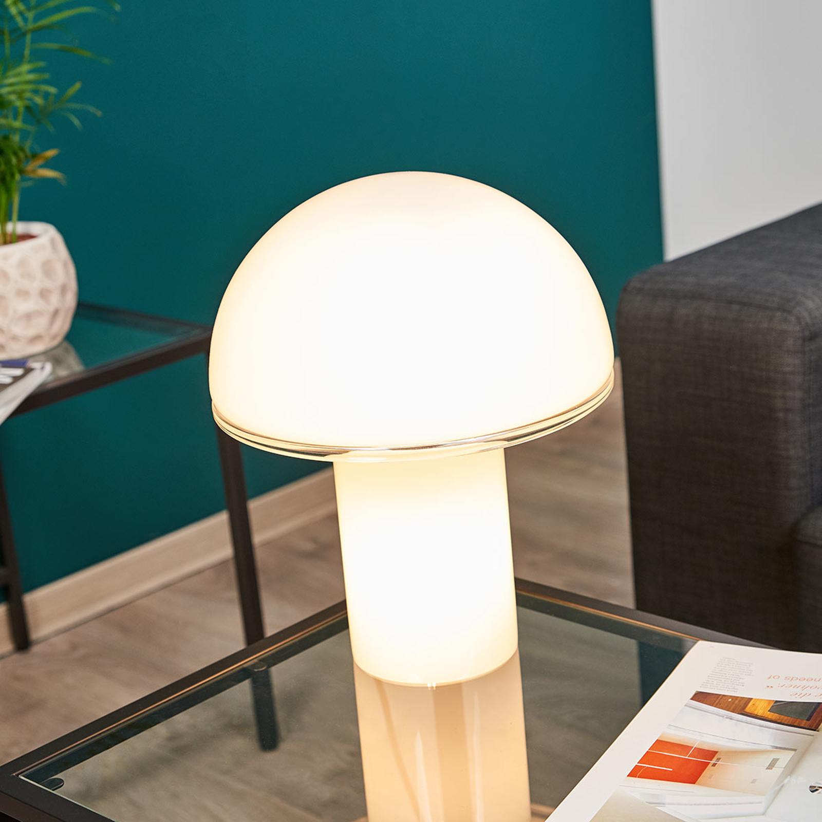 Lampe à poser de designer Onfale medio en verre
