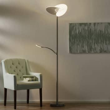 B-Leuchten Malibu LED-gulvlampe med dæmper, nikkel