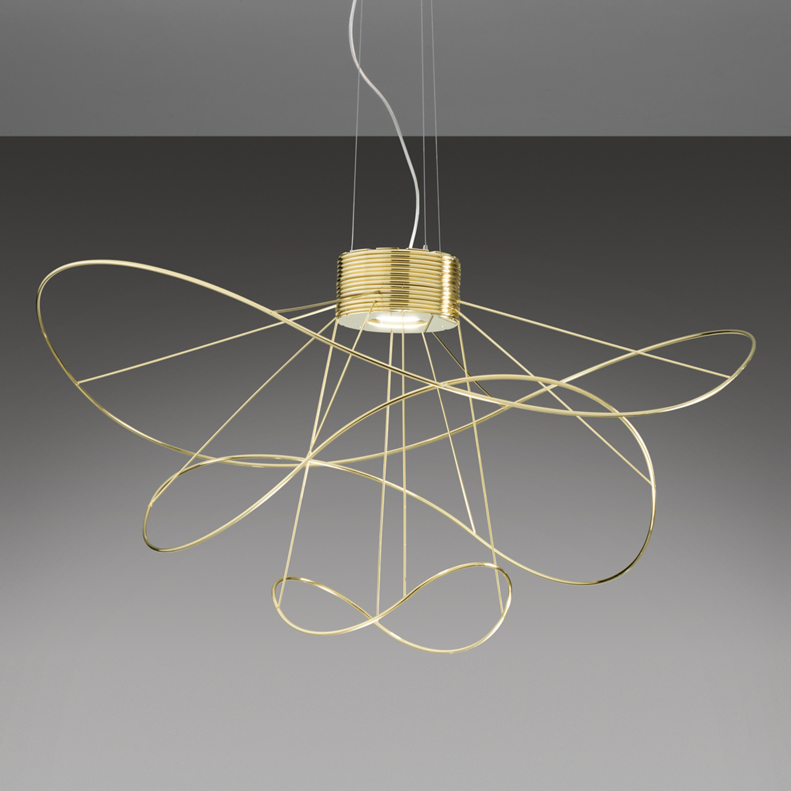 Axolight Hoops 3 lampa wisząca LED, złota