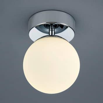 Lámpara de techo vidrio esférica Keto c. luz LED