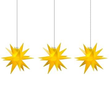 Lichterkette Stern innen, 18-Zacker, 3-flg.