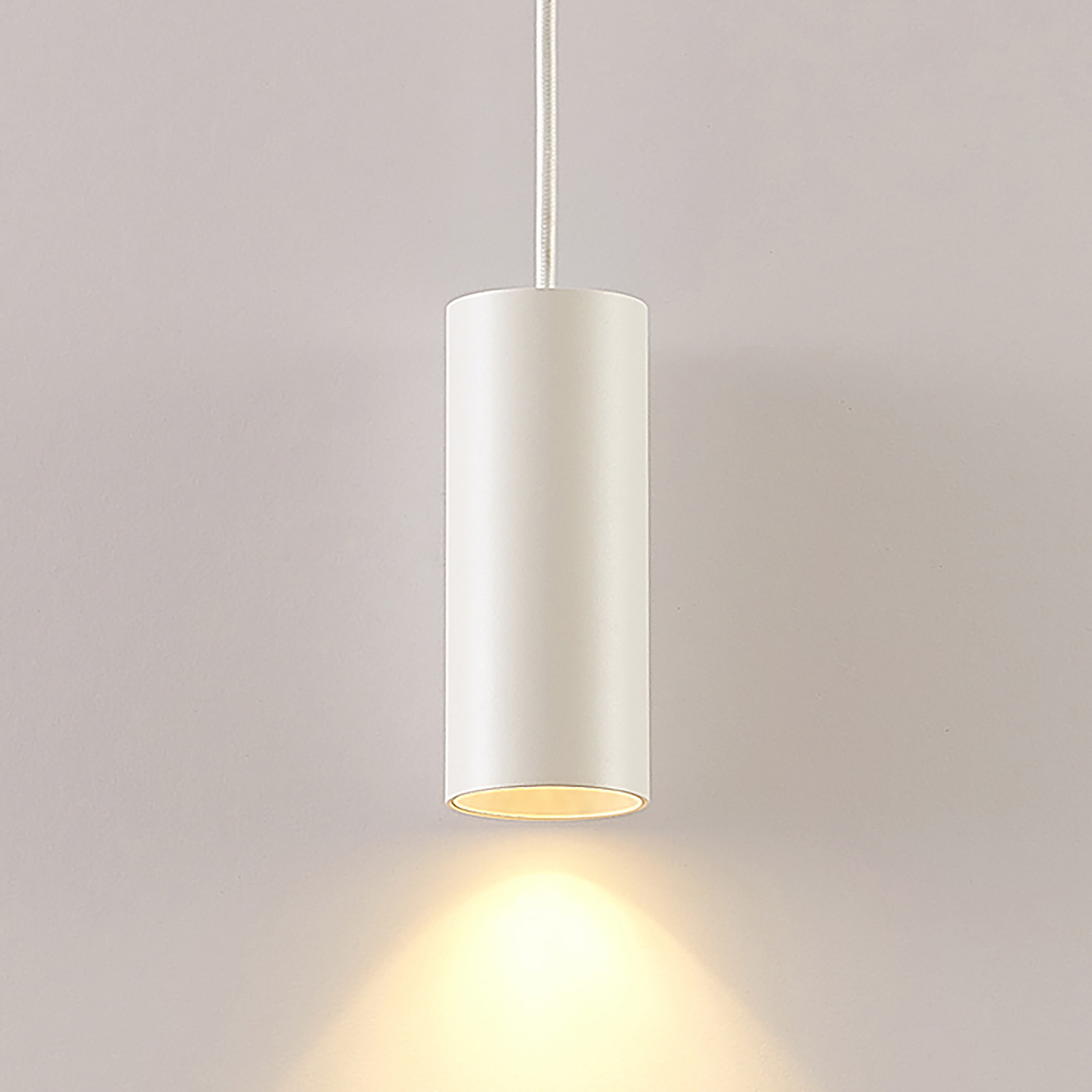 Arcchio Ejona hanglamp, hoogte 15 cm, wit