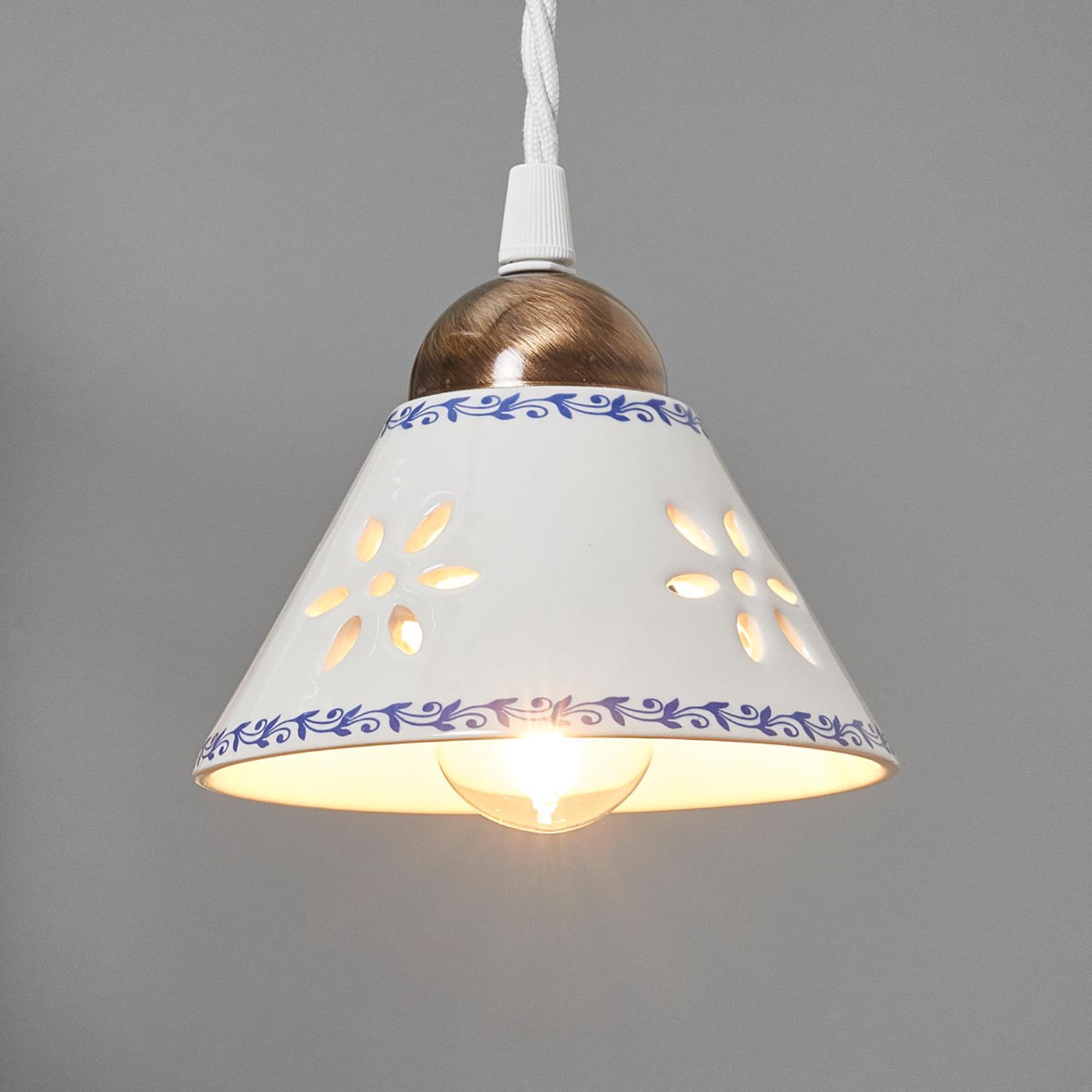 Lámpara colgante NONNA de cerámica blanca