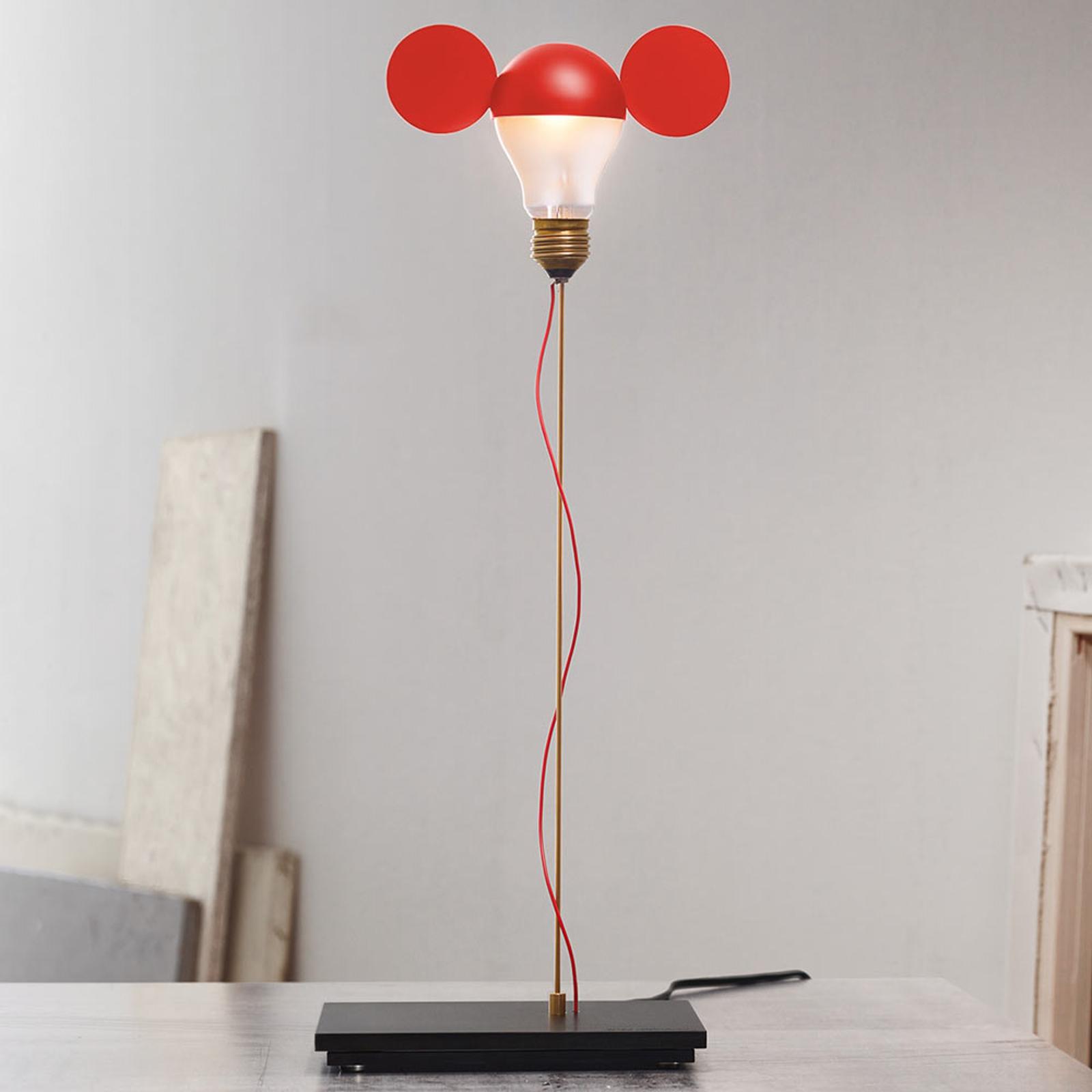 Lampe à poser rouge I Ricchi Poveri Toto