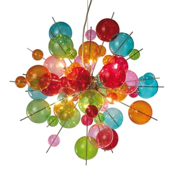 Suspension en verre multicolore Aurinia