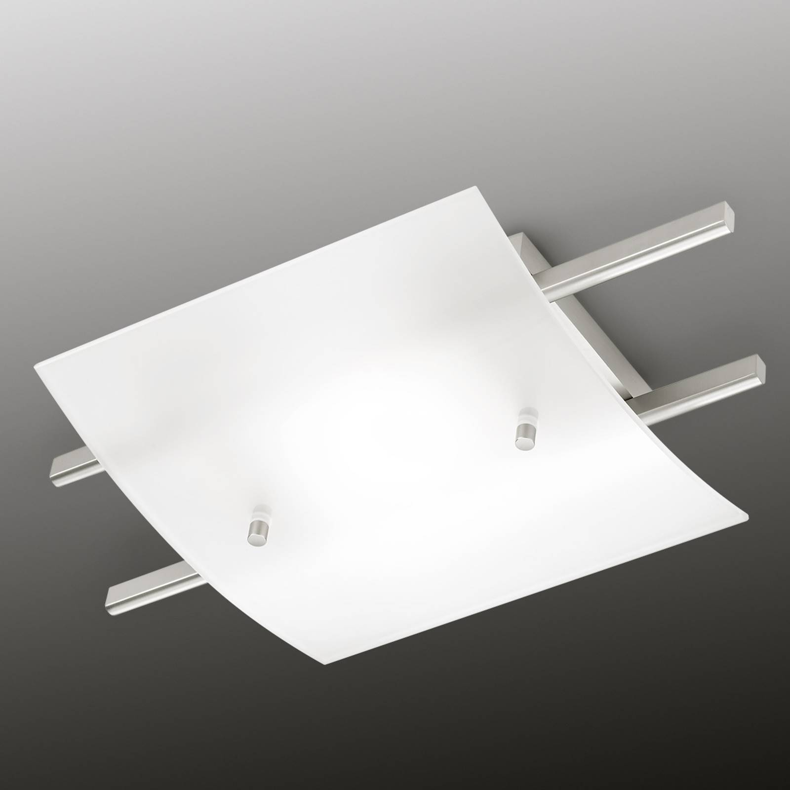 Marie LED plafondlamp met gesatineerde kap