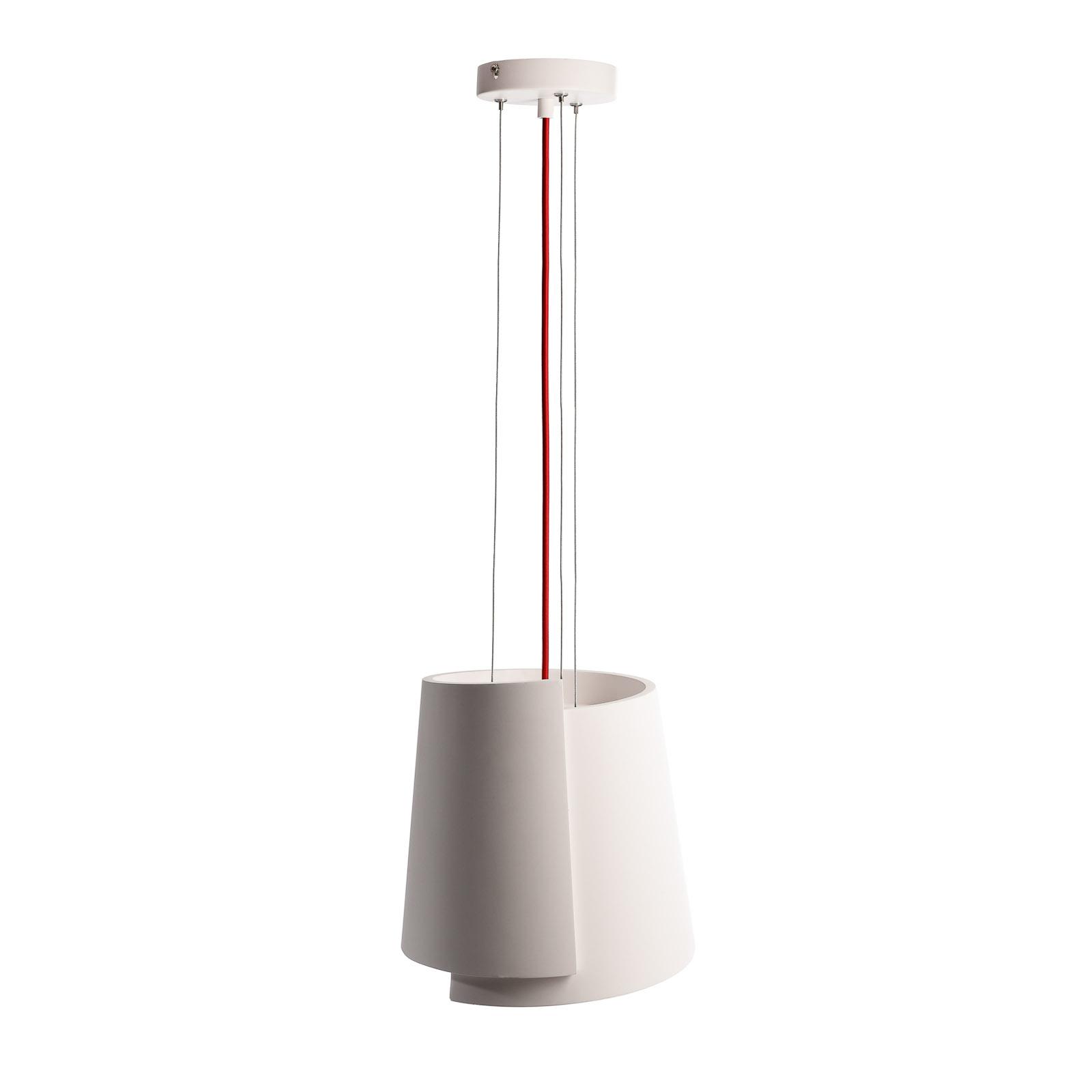 Suspension Twister II, blanche, Ø 28cm