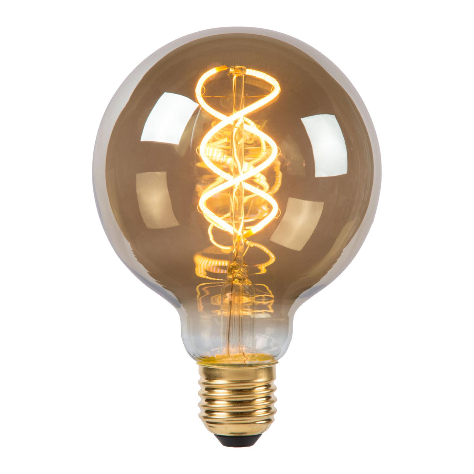 LED-globepære G95 E27 5W 2.200K, røggrå