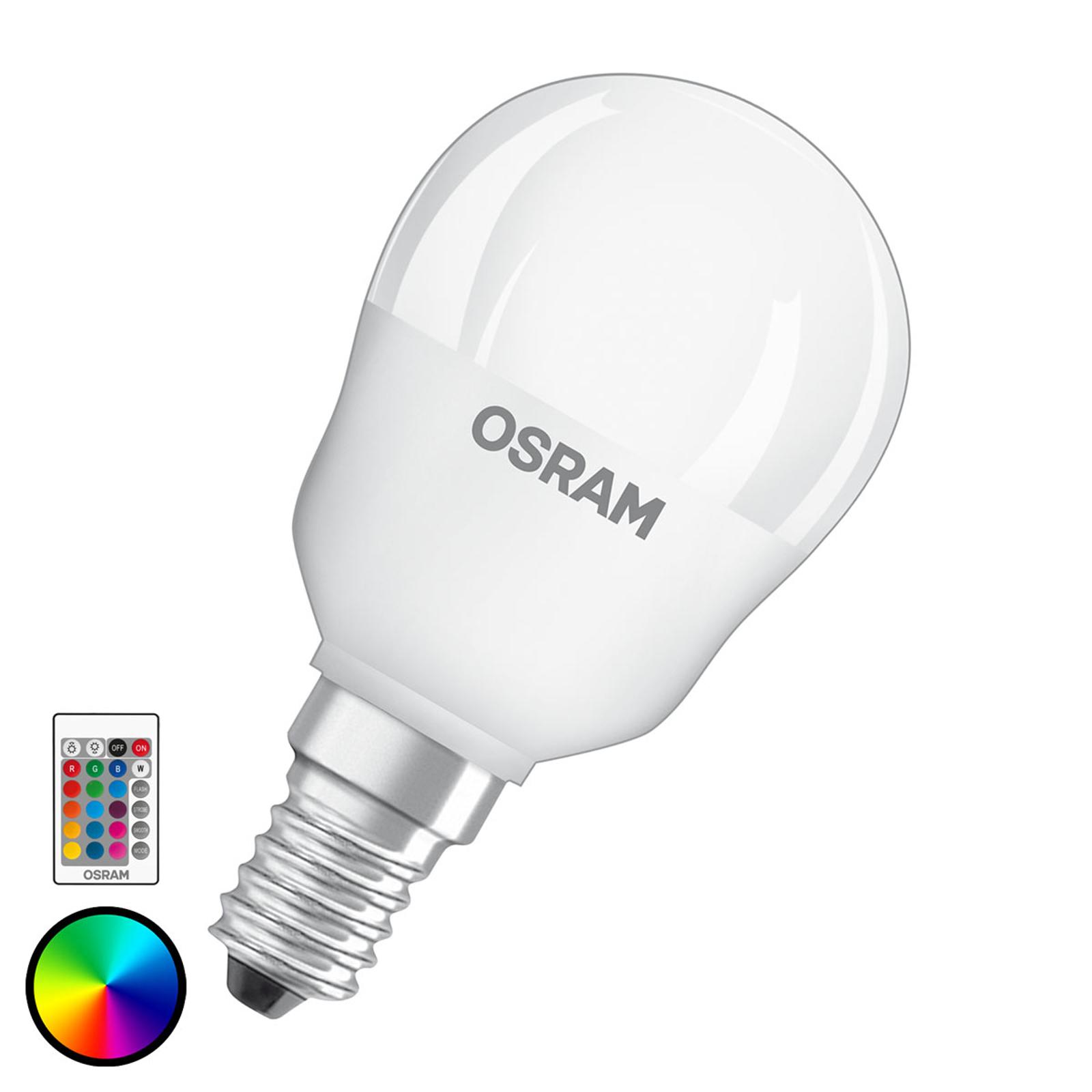 OSRAM LED-Lampe E14 4,5W Star+ Tropfen Remote matt