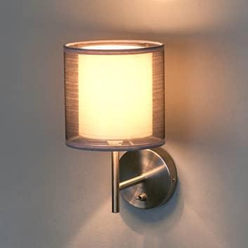 Betoverende stoffen wandlamp Nica in grijs