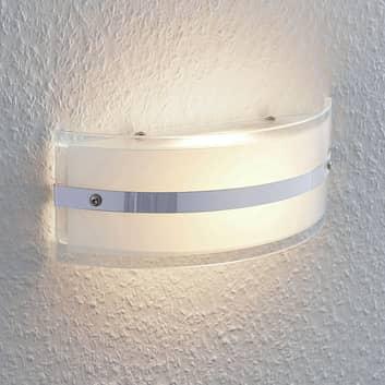 Glass-vegglampe Zinka med LED, 25 cm