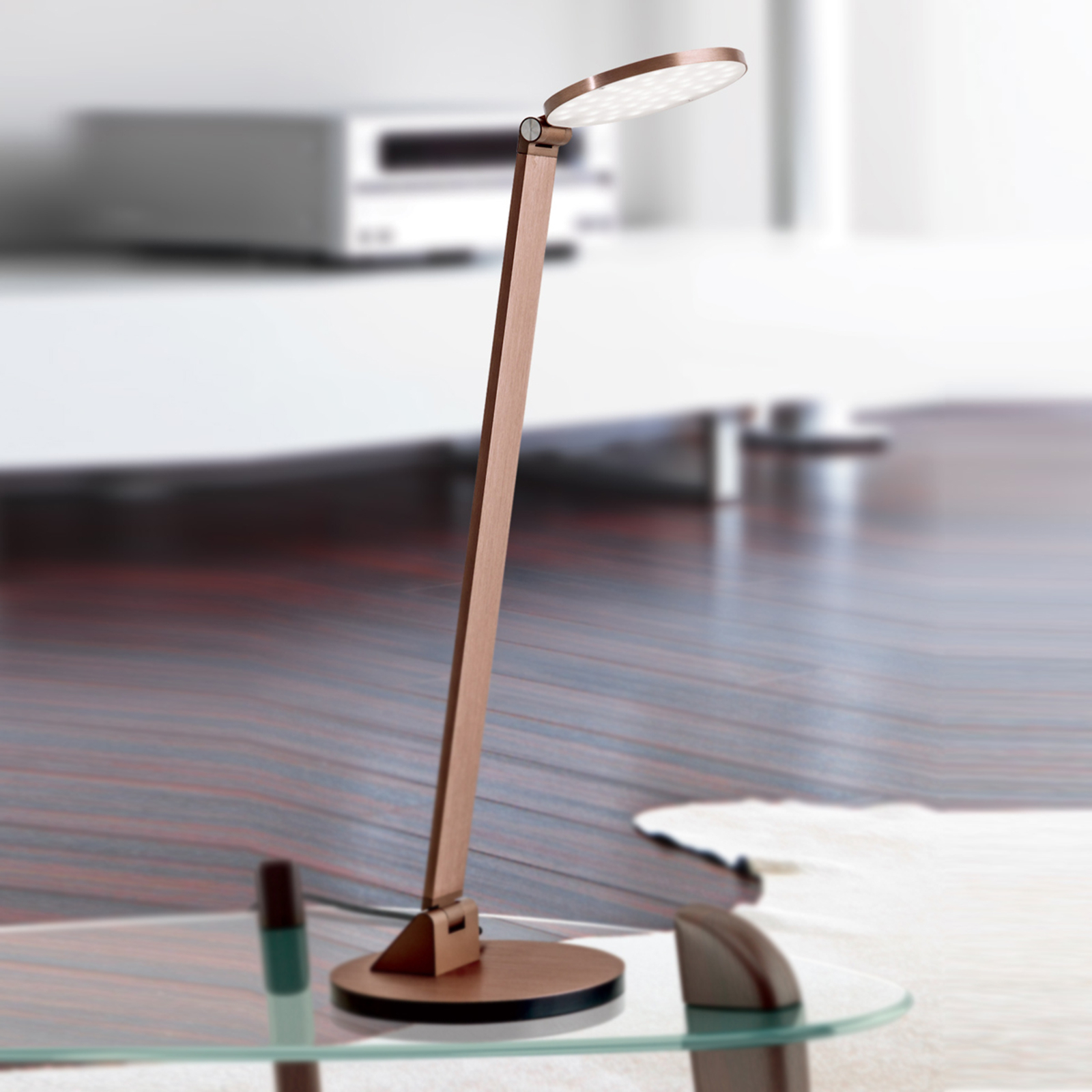 Lampe à poser LED Ayana, tête ronde, dimmable